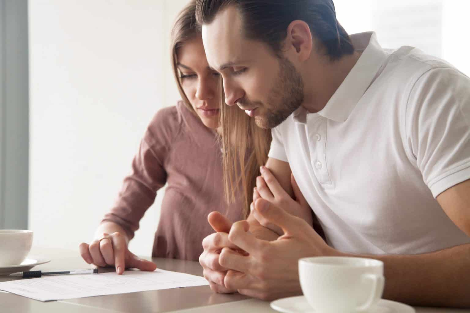 young couple contesting a will