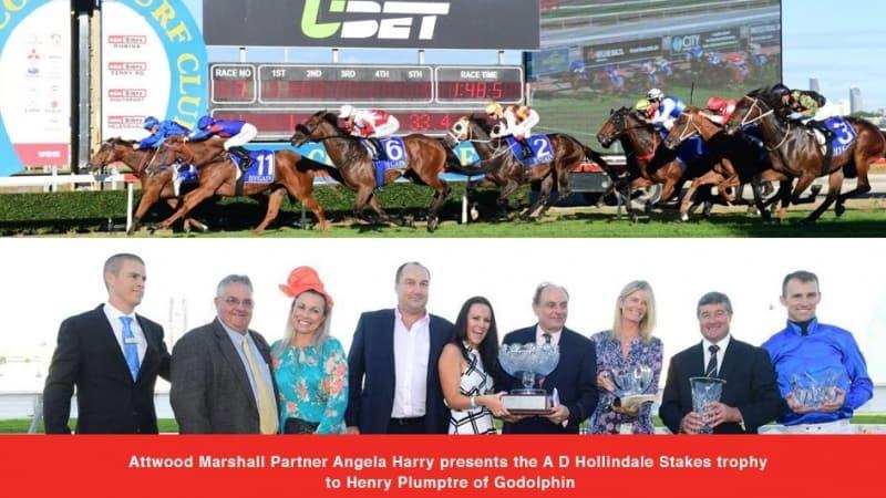 Hollindale Stakes Trophy Presentation.