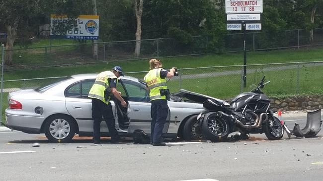 motorbike crash.