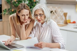 Mother and daughter Attempting to complete an Enduring Power of Attorney online
