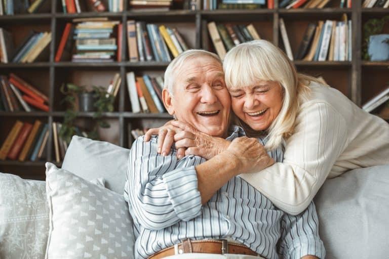 retired couple living in retirement village