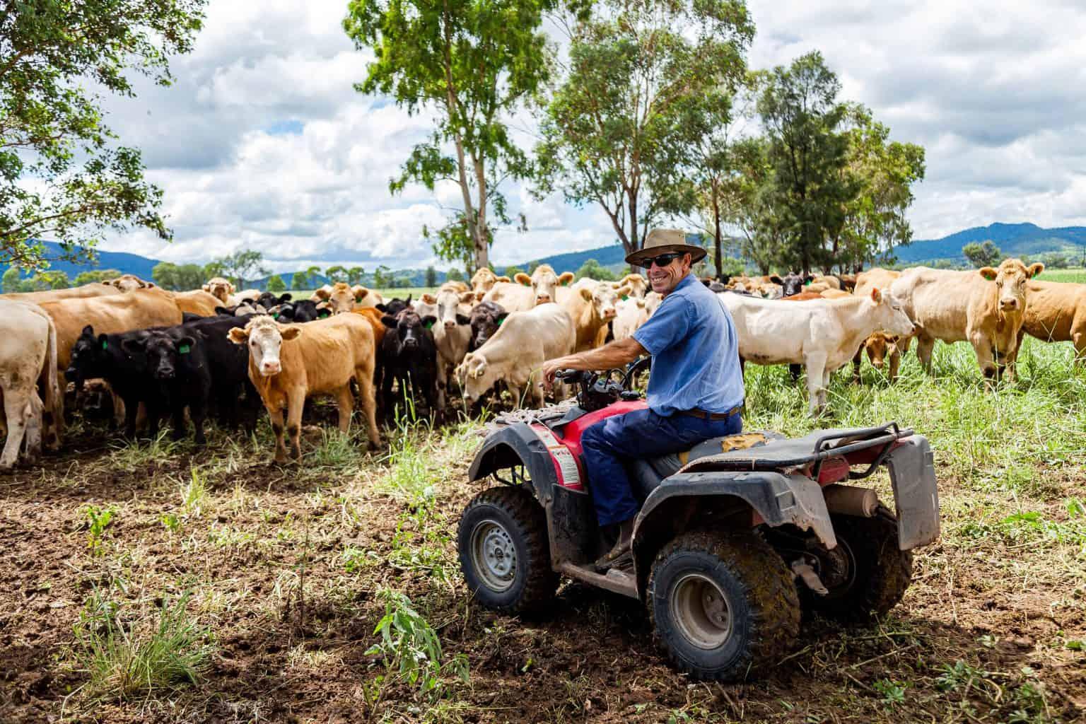 Aussie Farmer on an ATV