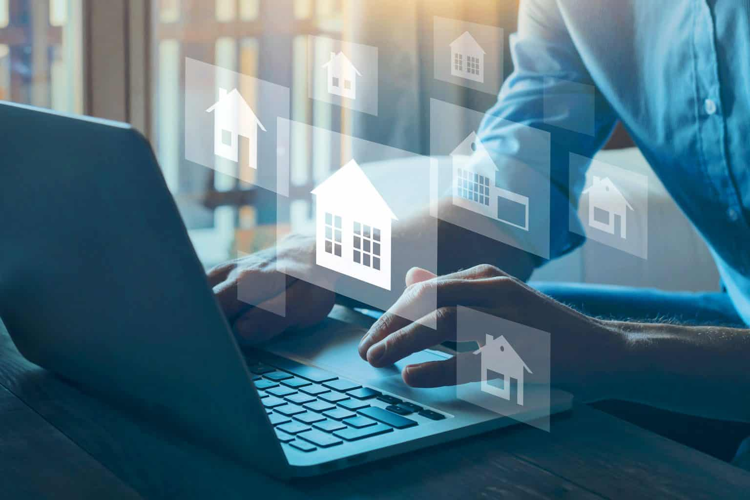 researching property information online when looking to purchase property