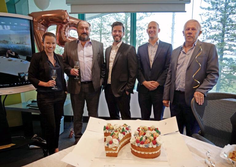 Attwood Marshall Lawyers Partners Angela Harry, Jeff Garrett, Jeremy Roche, Charles Lethbridge, Barry van Heerden