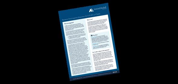 business interruption insurance fact sheet